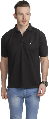 Greenwich United Polo Club Solid Men's Polo Neck Black T-Shirt