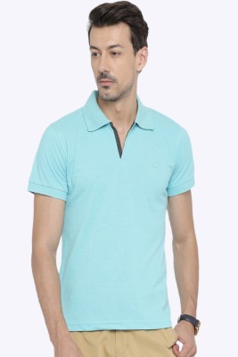 Sports 52 Wear Solid Men's Polo Neck Blue T-Shirt  available at flipkart for Rs.399