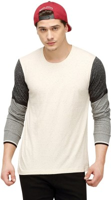 Campus Sutra Solid Men Round or Crew White T-Shirt at flipkart