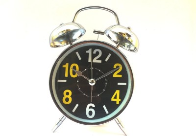 Udee Analog Double Twin Bell Alarm Metal Loud Sound Clock at flipkart