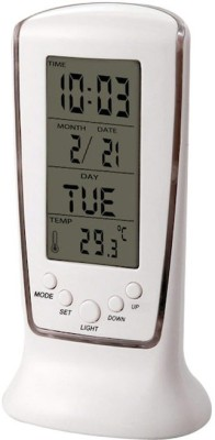 Jazam Digital White Clock at flipkart