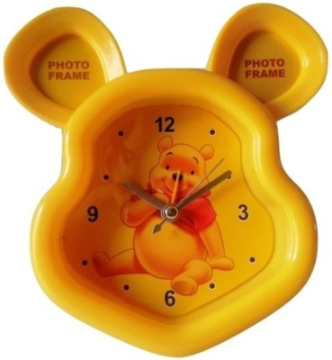 Please Daddy Analog Yellow Clock at flipkart