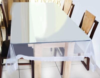 Idrape Solid 6 Seater Table Cover(White, Polyester) at flipkart