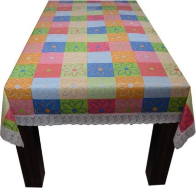 Delfi Floral 4 Seater Table Cover(Multicolor, PVC) at flipkart