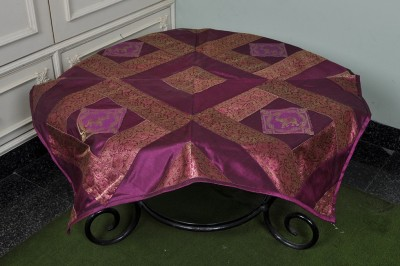 Lal Haveli Animal 4 Seater Table Cover(Purple, Silk) at flipkart