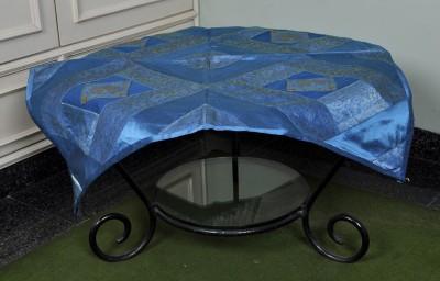Lal Haveli Animal 2 Seater Table Cover(Light Blue, Silk) at flipkart