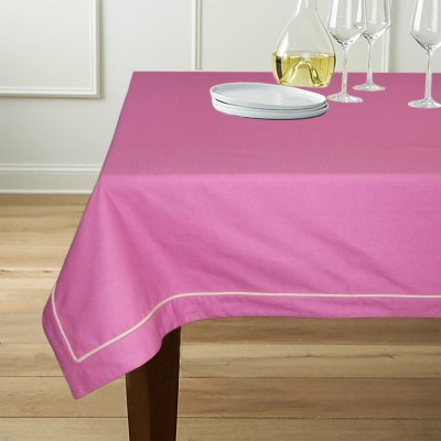 Lushomes Solid 6 Seater Table Cover(Purple, Cotton) at flipkart