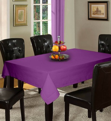 Lushomes Solid 6 Seater Table Cover(Lavender, Cotton) at flipkart