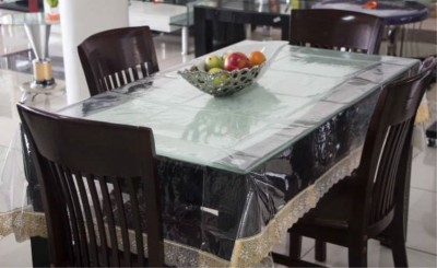 Delfi Solid 6 Seater Table Cover(Gold, PVC) at flipkart