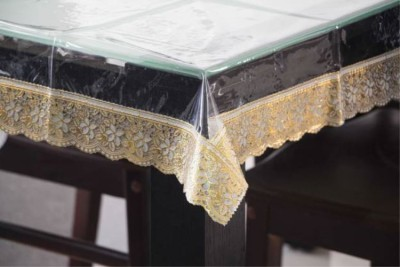 Delfi Solid 8 Seater Table Cover(Transparent, PVC) at flipkart