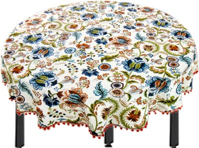 Miyanbazaz Self Design 4 Seater Table Cover(Multicolor, Cotton) at flipkart