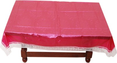 E Reatiler Floral 6 Seater Table Cover(Mehroon, PVC) at flipkart