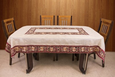 Azalea Floral 6 Seater Table Cover(Red, Organza) at flipkart