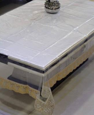 Delfi Solid 6 Seater Table Cover(Transparent, PVC) at flipkart