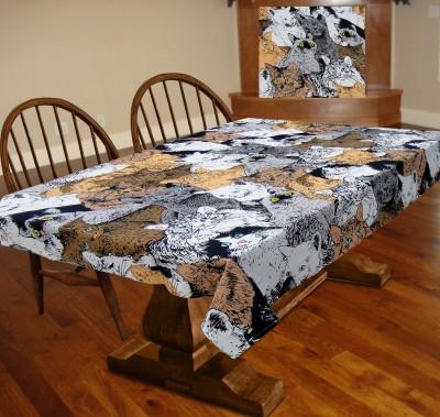 Miyanbazaz Self Design 6 Seater Table Cover(Multi-color, Cotton) at flipkart