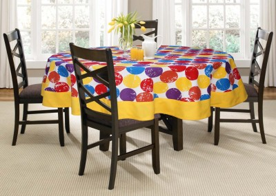 Lushomes Printed 6 Seater Table Cover(Multicolor, Cotton) at flipkart