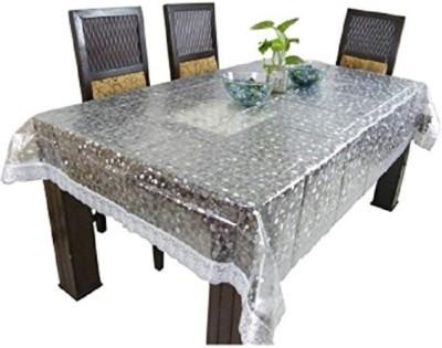 Delfi Self Design 6 Seater Table Cover(Transparent,PVC, PVC) at flipkart