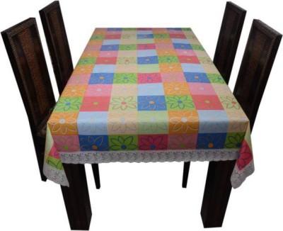 Delfi Floral 6 Seater Table Cover(Multicolor, PVC) at flipkart