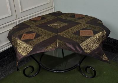 Lal Haveli Animal 2 Seater Table Cover(Brown, Silk) at flipkart