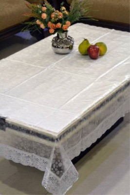 Delfi Self Design 4 Seater Table Cover(Transparent, PVC) at flipkart