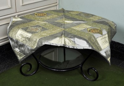 Lal Haveli Animal 4 Seater Table Cover(Grey, Silk) at flipkart