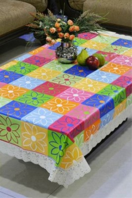 Delfi Printed 4 Seater Table Cover(Multicolor, PVC) at flipkart