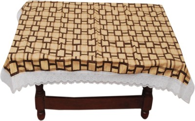 E Reatiler Geometric 6 Seater Table Cover(Dark Brown, PVC) at flipkart