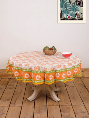 Ocean Home Store Printed 4 Seater Table Cover(Multicolor, Cotton) at flipkart