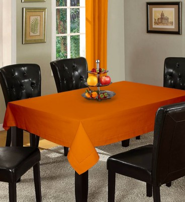 Lushomes Solid 12 Seater Table Cover(Orange, Cotton) at flipkart