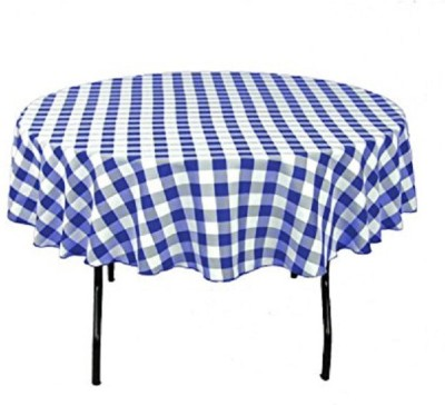 Airwill Checkered 2 Seater Table Cover(Blue, White, Cotton) at flipkart
