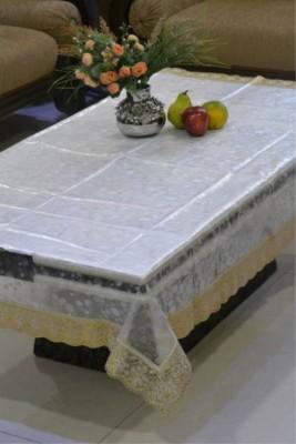 Delfi Self Design 4 Seater Table Cover(Transparent, PVC) at flipkart