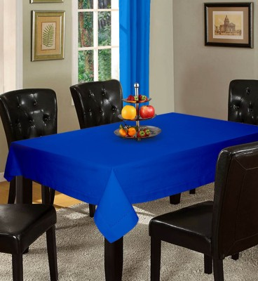 Lushomes Solid 6 Seater Table Cover(Light Blue, Cotton) at flipkart