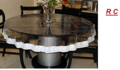 Ridhima Creations Solid 4 Seater Table Cover(White, PVC) at flipkart