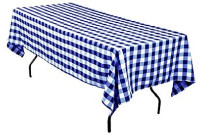 Airwill Checkered 6 Seater Table Cover(Blue, White, Cotton) at flipkart