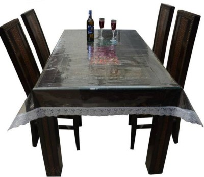 Delfi Self Design 6 Seater Table Cover(Transparent, PVC) at flipkart