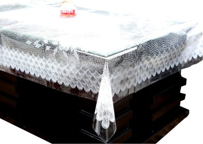 Kuber Industries Printed 4 Seater Table Cover(White, Plastic) at flipkart