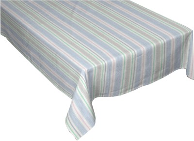 Cotonex Striped 6 Seater Table Cover Multicolor, Cotton