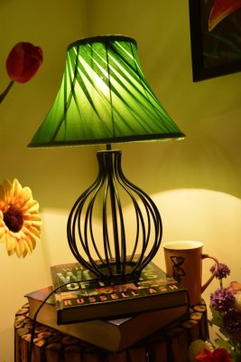 Yashasvi Decor Table Lamp(30 cm, Green) at flipkart