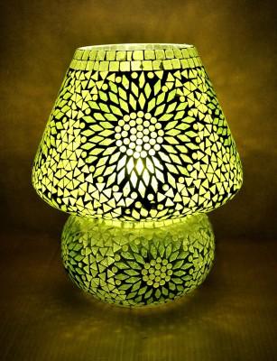 Lal Haveli Glass Mossiac Table Lamp(30.48 cm, Green) at flipkart