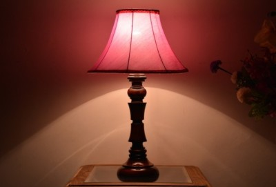 Yashasvi Decor Table Lamp(40.64 cm, Pink) at flipkart