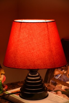 Yashasvi Oval Orangatic Table Lamp Table Lamp(30 cm, Orange) at flipkart