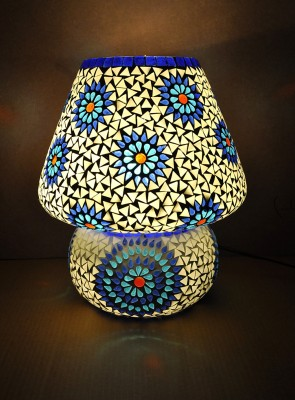 Lal Haveli Glass Mossiac Night Lamp(30.48 cm, White) at flipkart