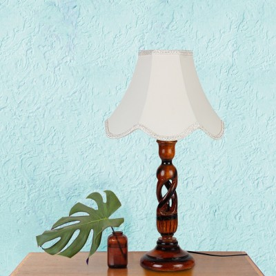 Yashasvi Ophelia Crown Table Lamp(45 cm, White) at flipkart