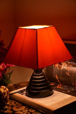 Yashasvi Orange Table Lamp Table Lamp(28 cm, Orange) at flipkart