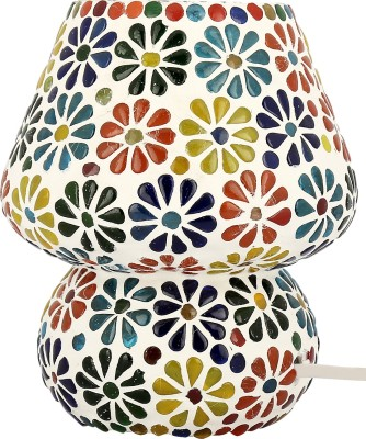 Gojeeva Floral Table Lamp(17 cm, White, Blue, Green) at flipkart
