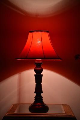 Yashasvi Decor Table Lamp(40.64 cm, Red) at flipkart