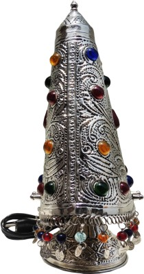 Brass Gift Center Brass Gaghara Lamp in Silver Antique Table Lamp(46 cm, Silver Antique) at flipkart