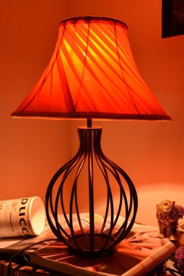 Yashasvi Decor Table Lamp(30 cm, Orange) at flipkart