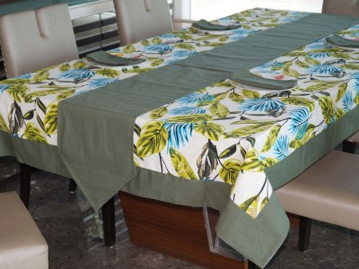 Lushomes Light Green Organic Cotton Table Linen Set(Pack of 14) at flipkart