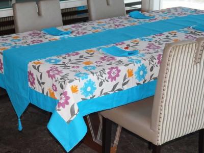 Lushomes Light Blue Organic Cotton Table Linen Set(Pack of 10) at flipkart